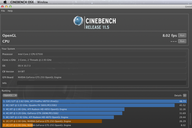 Cinebench - OS X Lion - Mac Pro SMBIOS.plist