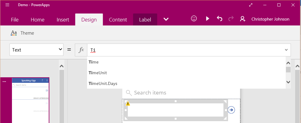 Build your first PowerApp with Office 365 and Twitter