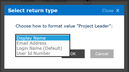 Select return type