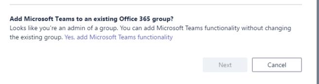 add team